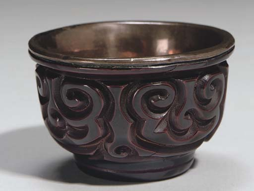 A Chinese tixi lacquer copper-