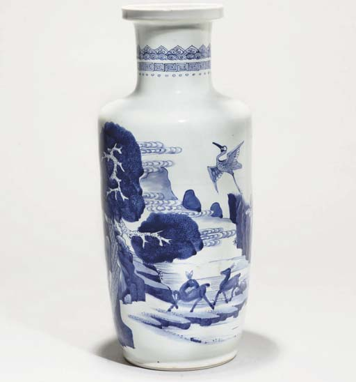 A Chinese blue and white roule