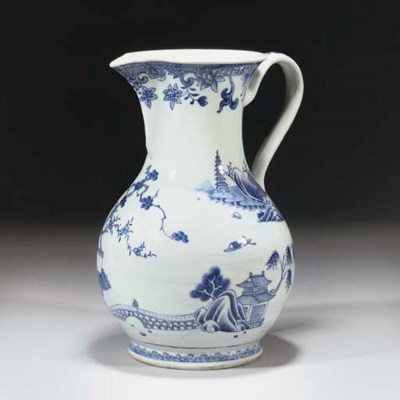 A Chinese blue and white expor