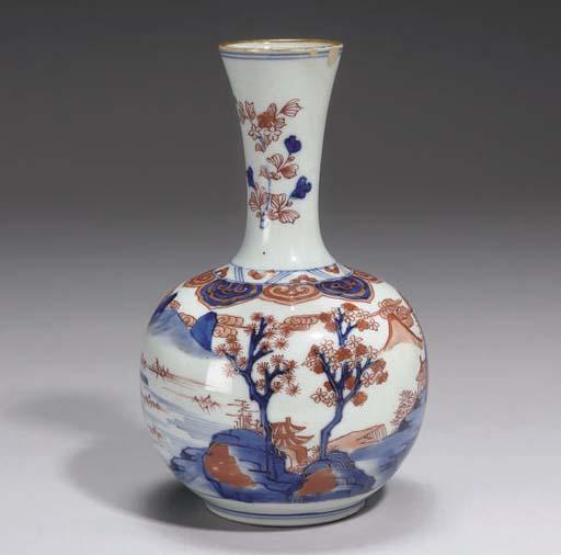 A Chinese Imari bottle vase, e