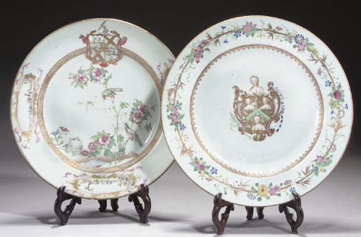 Two Chinese famille rose armor