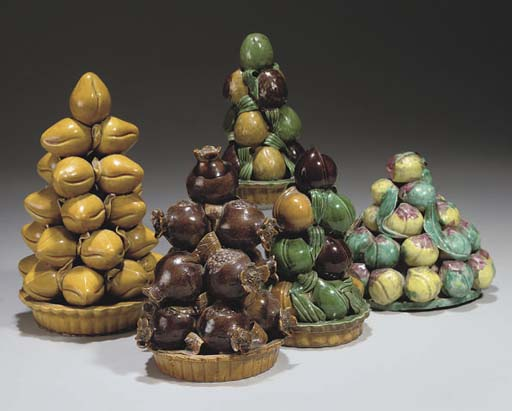 Five Chinese models of fruit,