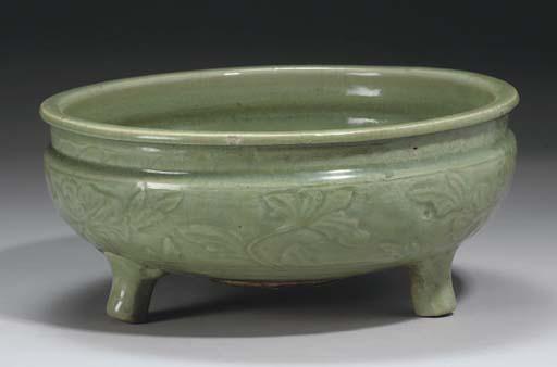 A Chinese celadon glazed 'Long