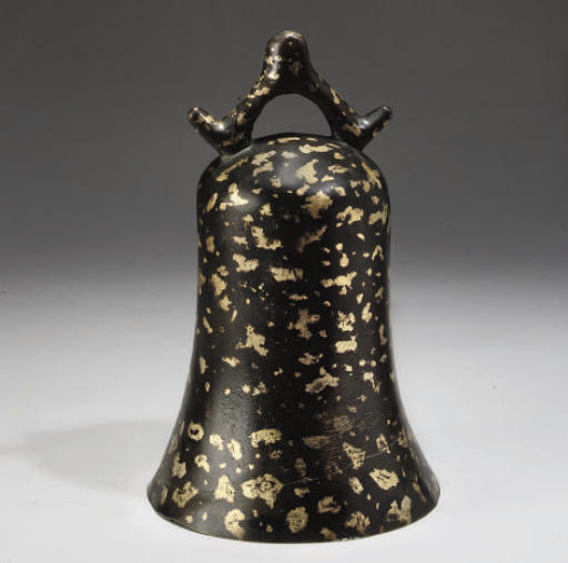 A Chinese gilt-splashed bronze bell, 18th Century