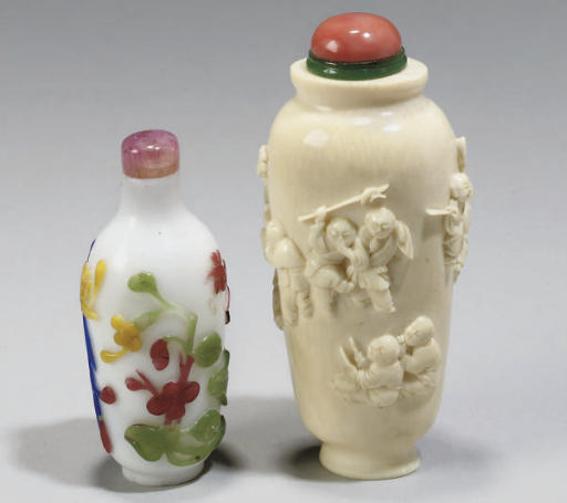 Two Chinese snuff bottles, 19th Century