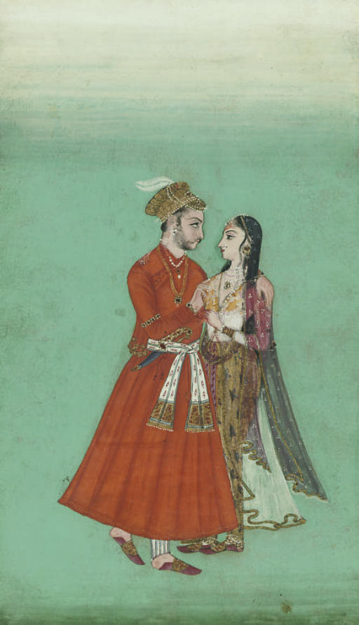 NOBLE COUPLE EMBRACING, DECCAN