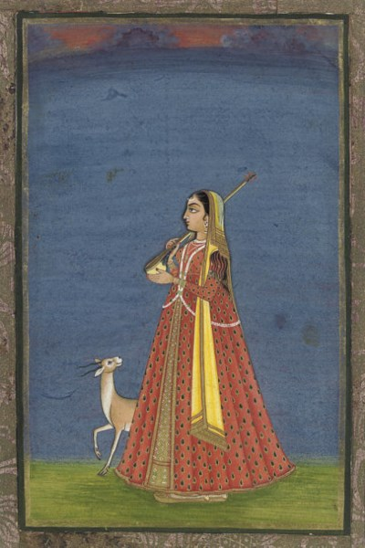 LADY WITH VINA AND DEER, HYDER