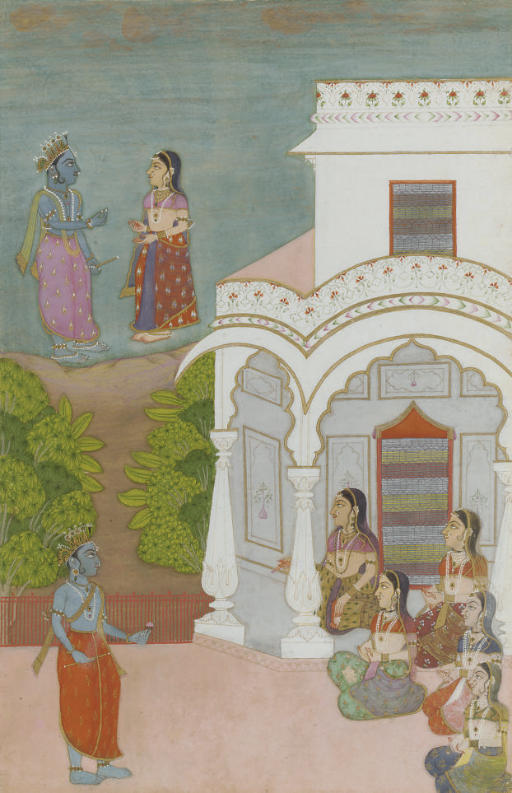 KRISHNA WITH GOPIS OUTSIDE A P