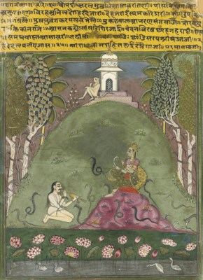 TWO MEN WITH SNAKES, AMBER, RA