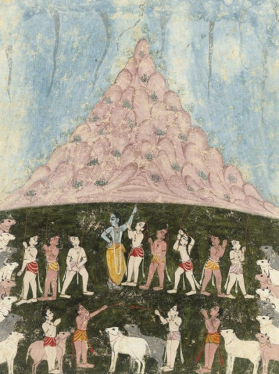 VISHNU HOLDING UP MOUNT GOVARD