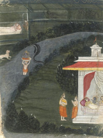 THE CHILD KRISHNA CARRIED ACRO