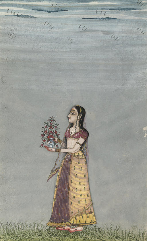LADY WITH VASE OF FLOWERS, BIK