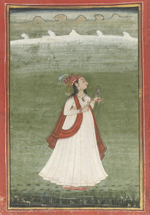 LADY WITH A FALCON, POSSIBLY J