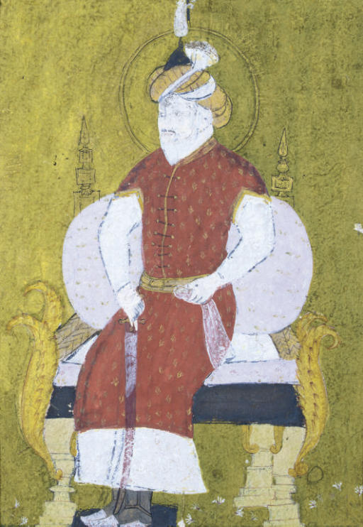 PORTRAIT OF A MUGHAL EMPEROR,