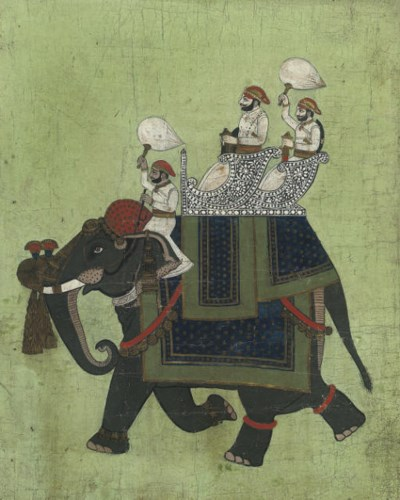 A MAHARAJAH AND ATTENDANTS, UD
