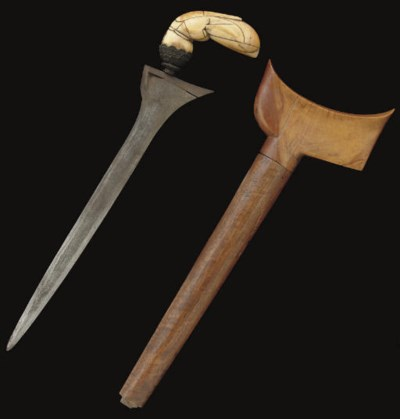 A BALINESE IVORY HILTED DAGGER
