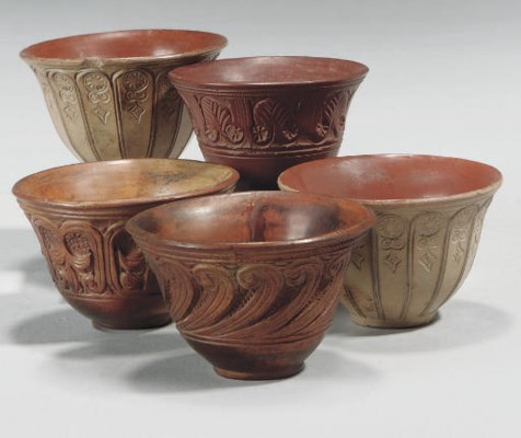 A GROUP OF TOPHANE CUPS, TURKE