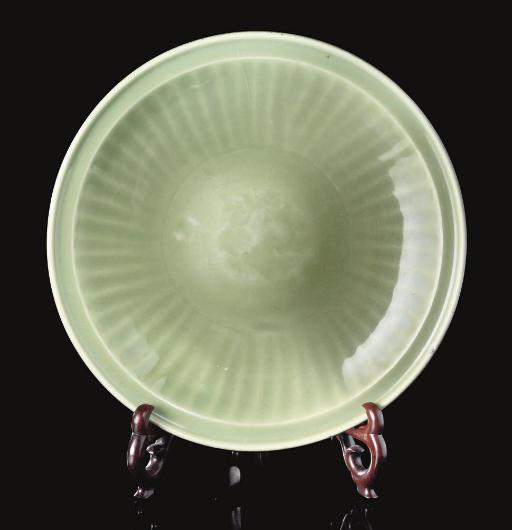 A large celadon 'Longquan' dis