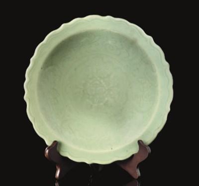 A celadon 'Longquan' barbed-ri
