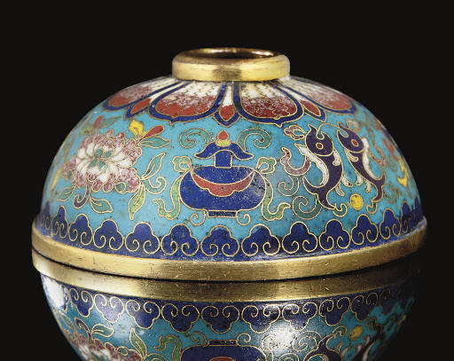 A cloisonne enamelled waterpot