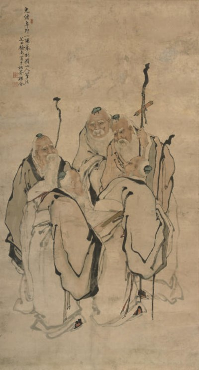 A HANGING SCROLL, 19TH CENTURY