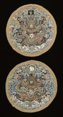 A PAIR OF IMPERIAL ROUNDELS, M