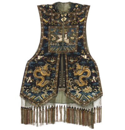 A XIAPE OR WAISTCOAT WITH A SI