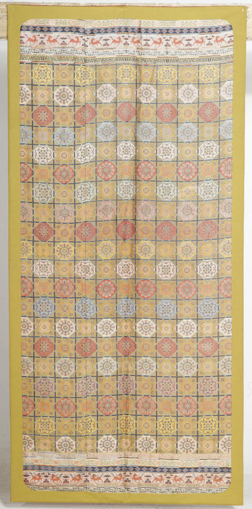 A SILK BANNER, LATE 18TH CENTU