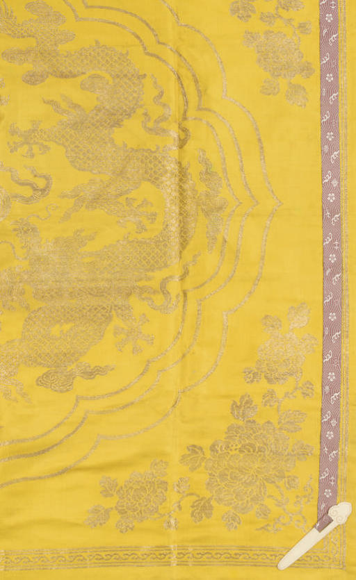 A YELLOW SILK SCROLL COVER, LA