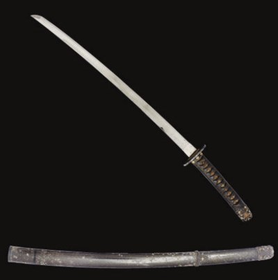 A Japanese Sword, signed Kunit