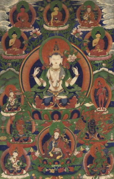 A Tibetan Thangka of Shadaksar