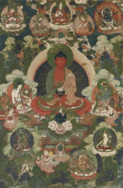 A Tibetan Thangka of Amitayus,