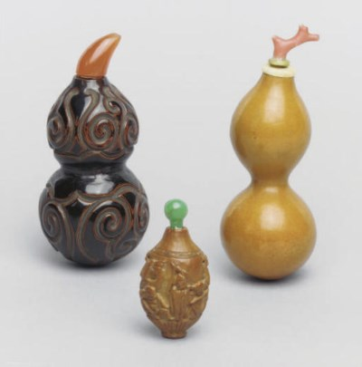 Three Chinese snuff bottles, 1