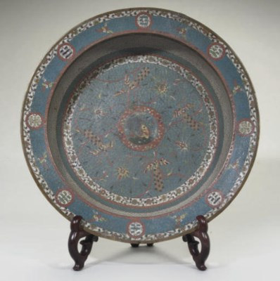 A Chinese large cloisonne 'lea
