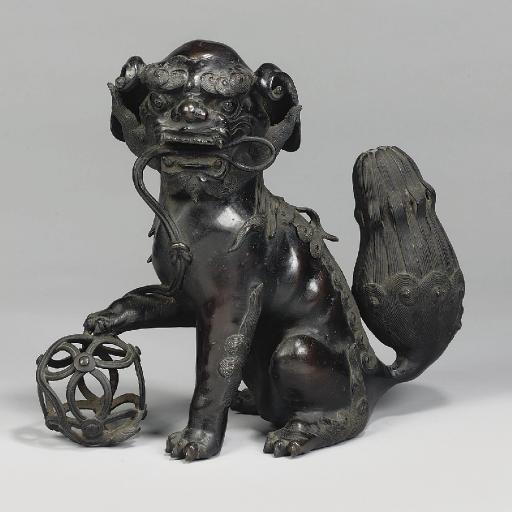 A Japanese bronze Buddhistic l