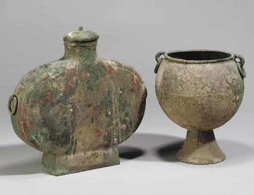 Two Chinese bronze vessels, Ha