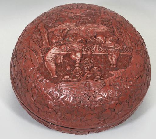 A Chinese Cinnabar lacquer cir