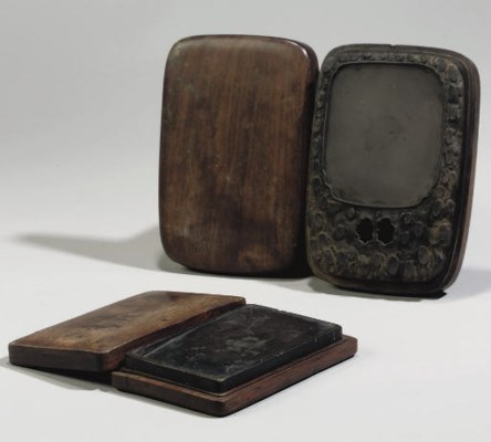 Two Chinese Duan ink stones, 1