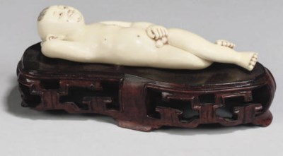 A Chinese ivory doctors model