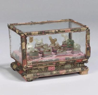 A Chinese jade set of Zodiac A