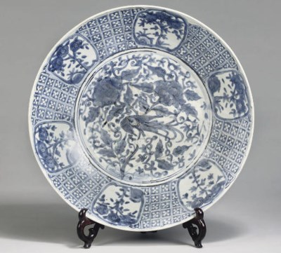 A large Swatow blue and white