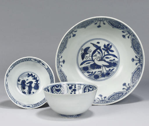 Three Ming bowls, Wanli (1573-