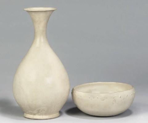 A Chinese cream glazed slender