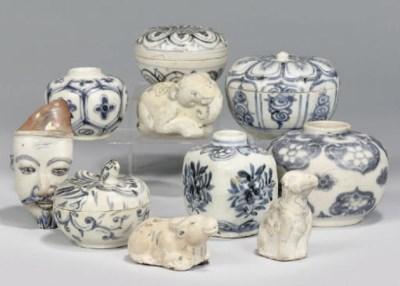 A selection of Vietnamese blue