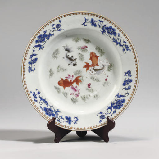 A Chinese famille rose dish, e