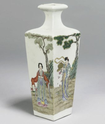A Chinese famille rose taperin