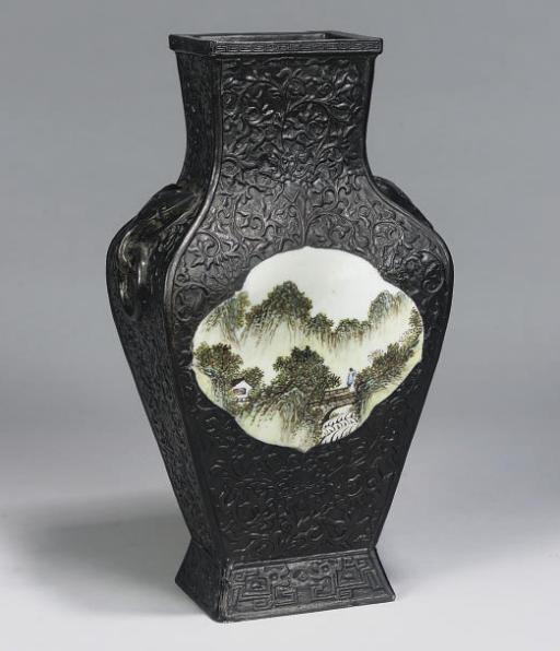 A Chinese 'imitation bronze' r