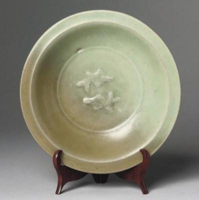 A Chinese celadon glazed twin