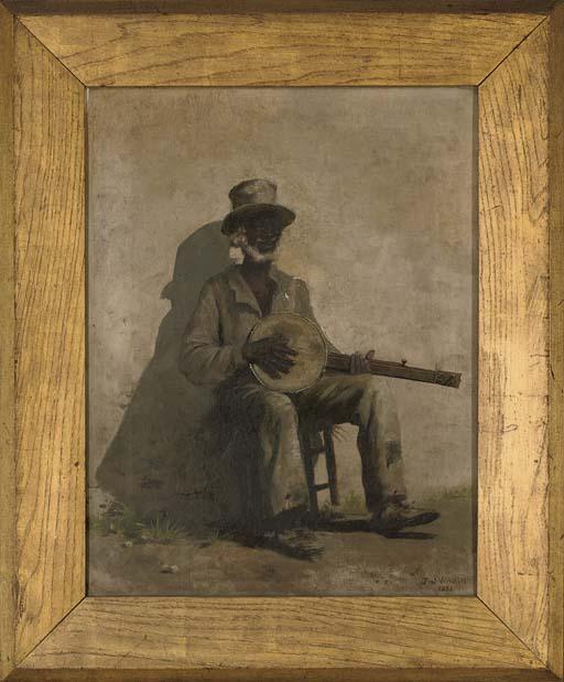 Playin' da banjo blues