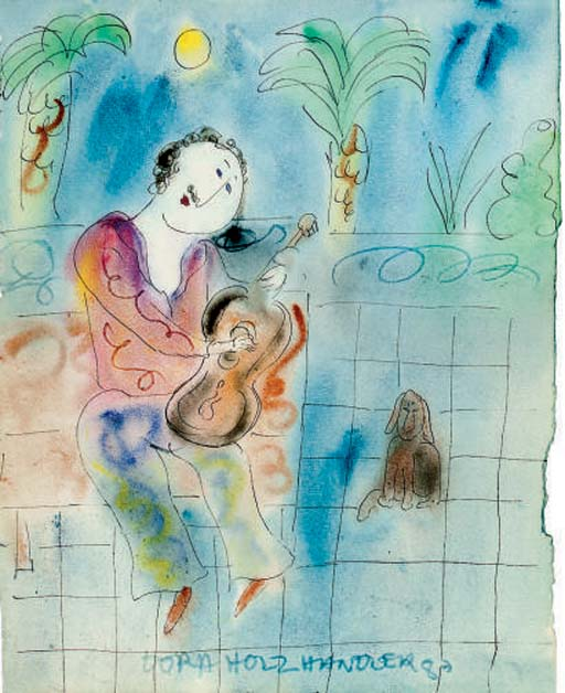 The Spanish Guitarist; Lady with a book; Lady with a flower; and Children Making Sandcastles